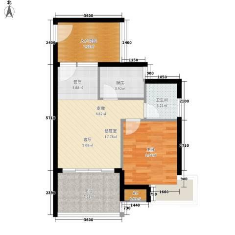 滨海18 ℃1室0厅1卫1厨59.00㎡户型图