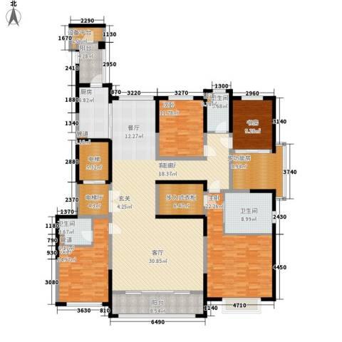 西派国际4室1厅3卫1厨218.00㎡户型图