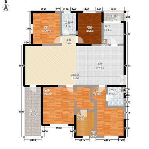 朗诗南门绿郡4室0厅3卫1厨191.00㎡户型图