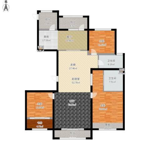 凤城国贸4室0厅2卫1厨220.00㎡户型图