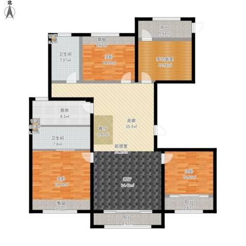 凤城国贸3室0厅2卫1厨216.00㎡户型图