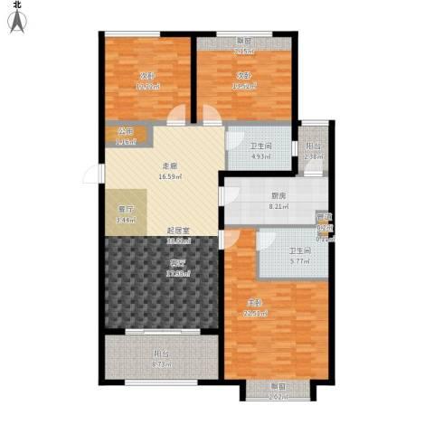 凤城国贸3室0厅2卫1厨166.00㎡户型图