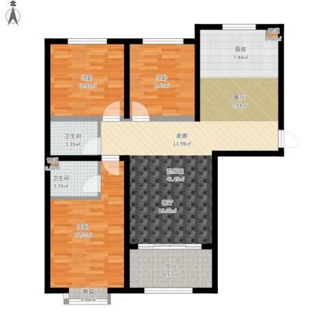 凤城国贸3室0厅2卫0厨131.00㎡户型图