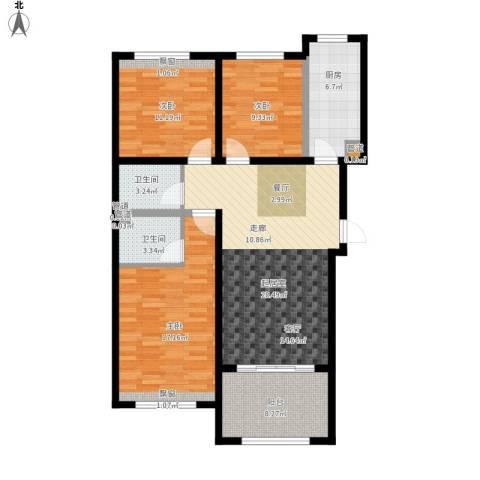 凤城国贸3室0厅2卫1厨126.00㎡户型图