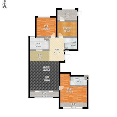 凤城国贸2室0厅2卫1厨160.00㎡户型图