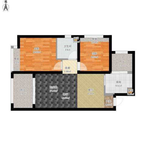 凤城国贸2室0厅1卫1厨91.00㎡户型图