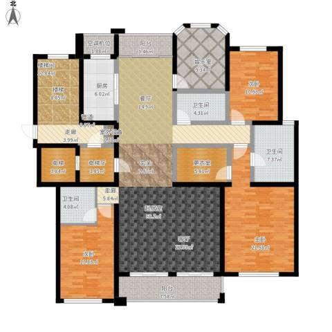 丰南君熙太和3室0厅3卫1厨249.00㎡户型图
