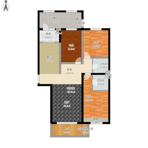 丰润鼎旺大观3室0厅2卫1厨168.00㎡户型图
