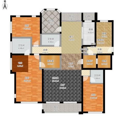 丰南君熙太和3室0厅3卫1厨262.00㎡户型图
