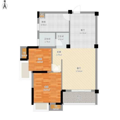 光谷麦郡2室0厅1卫1厨94.00㎡户型图