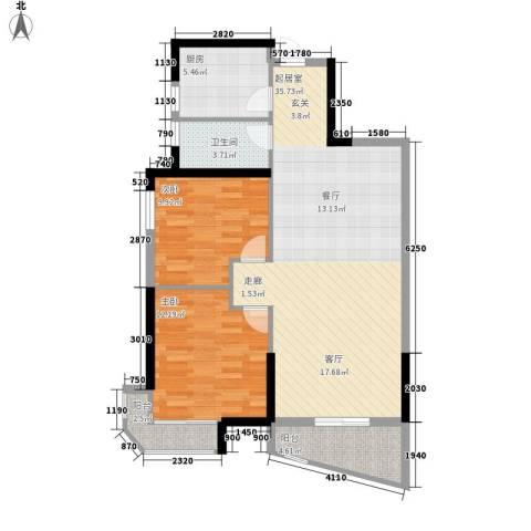 圣特立国际花园2室0厅1卫1厨84.00㎡户型图