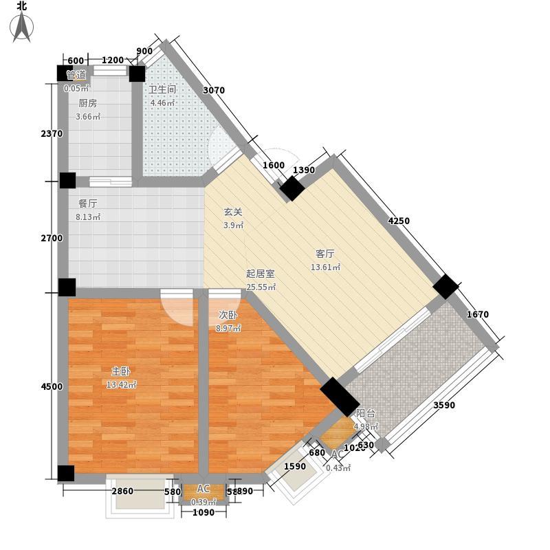 锦绣人家78.00㎡锦绣人家户型图Y2室2厅1卫1厨户型2室2厅1卫1厨