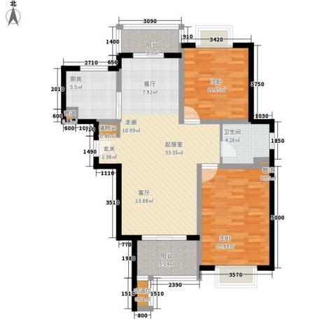 品家都市星城一期2室0厅1卫1厨93.00㎡户型图