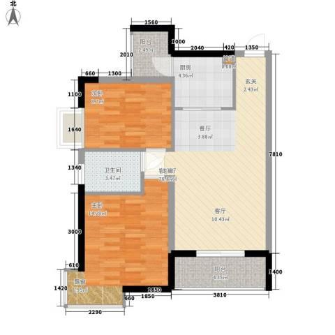 新彼岸2室1厅1卫1厨79.00㎡户型图