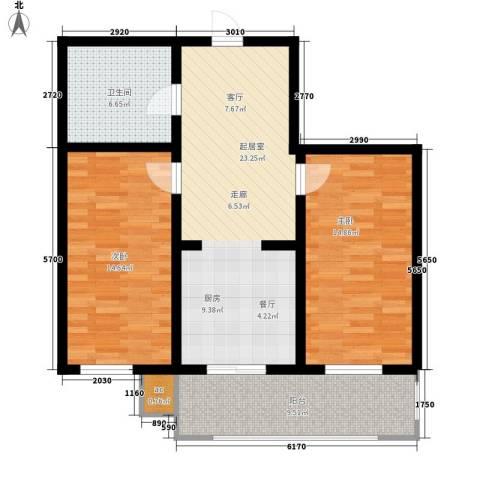 东城花园2室0厅1卫0厨79.63㎡户型图