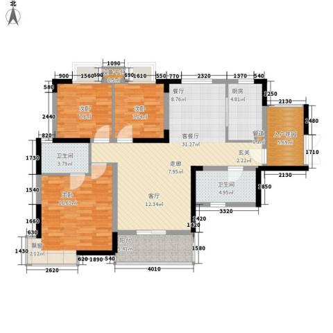 新彼岸3室1厅2卫1厨111.00㎡户型图