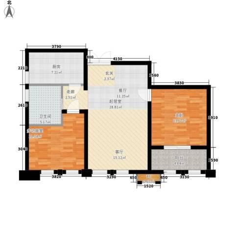 新港天之运1室0厅1卫1厨81.00㎡户型图