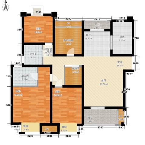 新港天之运3室0厅2卫1厨141.00㎡户型图