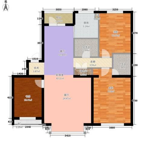 在水一方3室0厅2卫1厨123.00㎡户型图