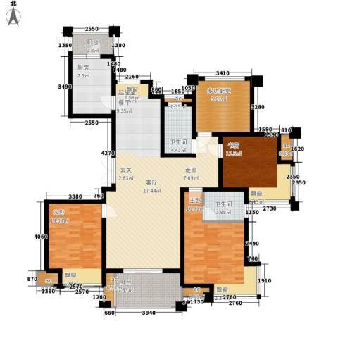 新港天之运3室0厅2卫1厨146.00㎡户型图