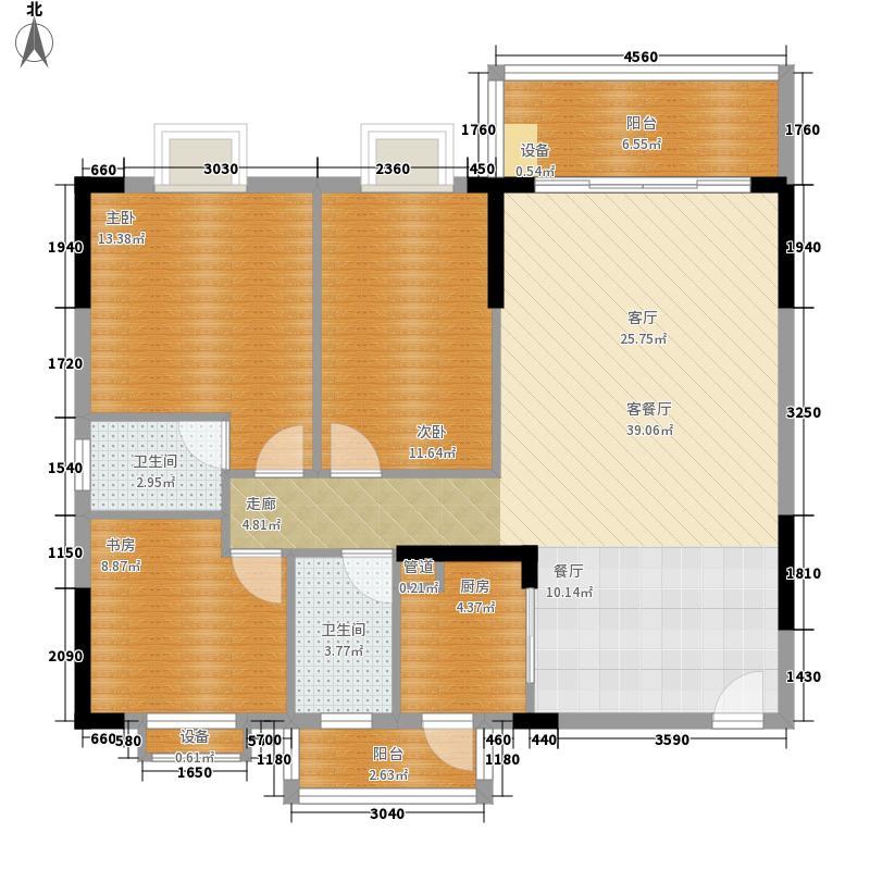 景新花园105.00㎡B座标准层01面积10500m户型