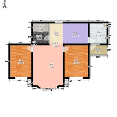 在水一方2室0厅1卫1厨125.00㎡户型图