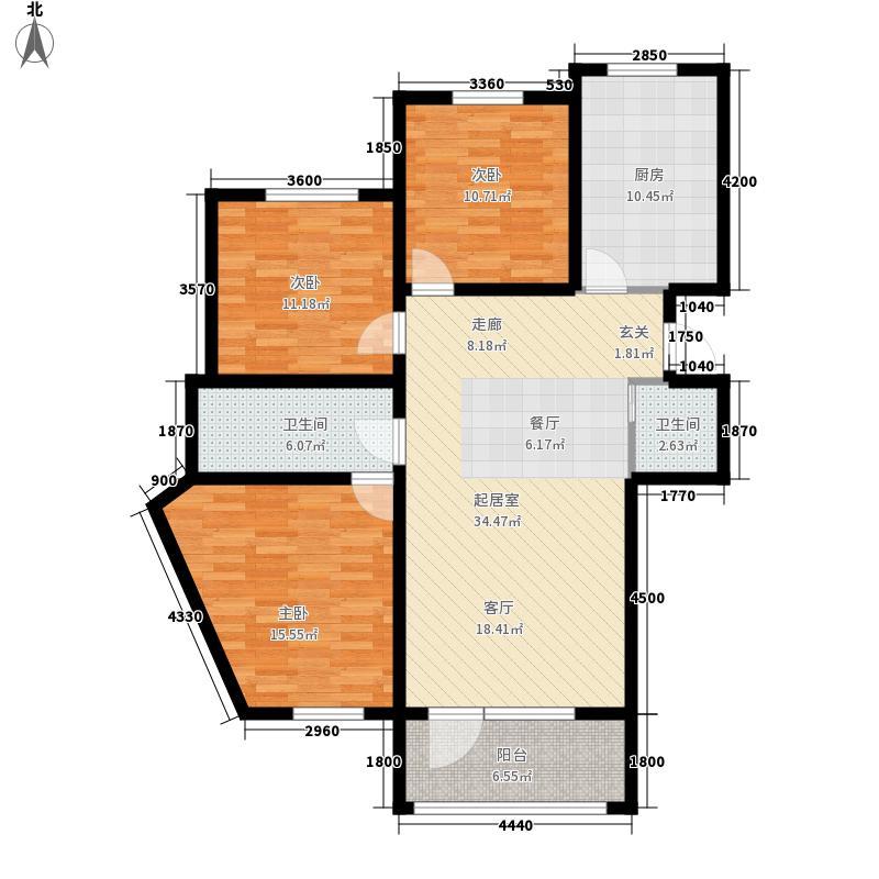 美地庄园・苹果园美地・苹果园三期户型图16#F户型户型10室