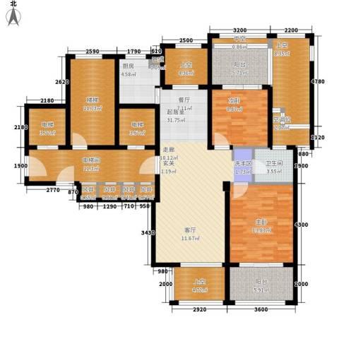 绿城翡翠湾2室0厅1卫1厨126.57㎡户型图