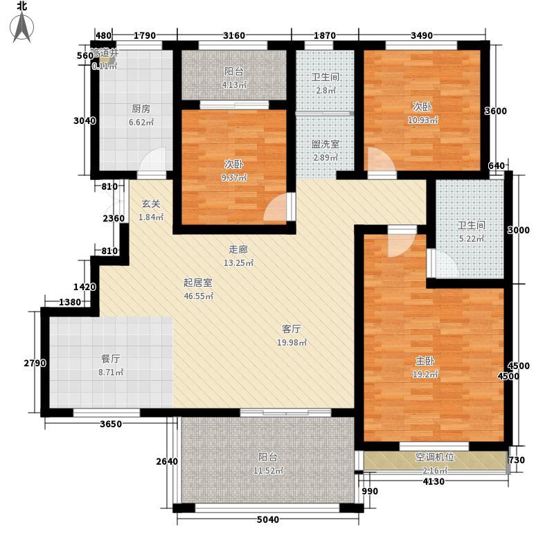 中华梦幻谷138.28㎡b7-1户型