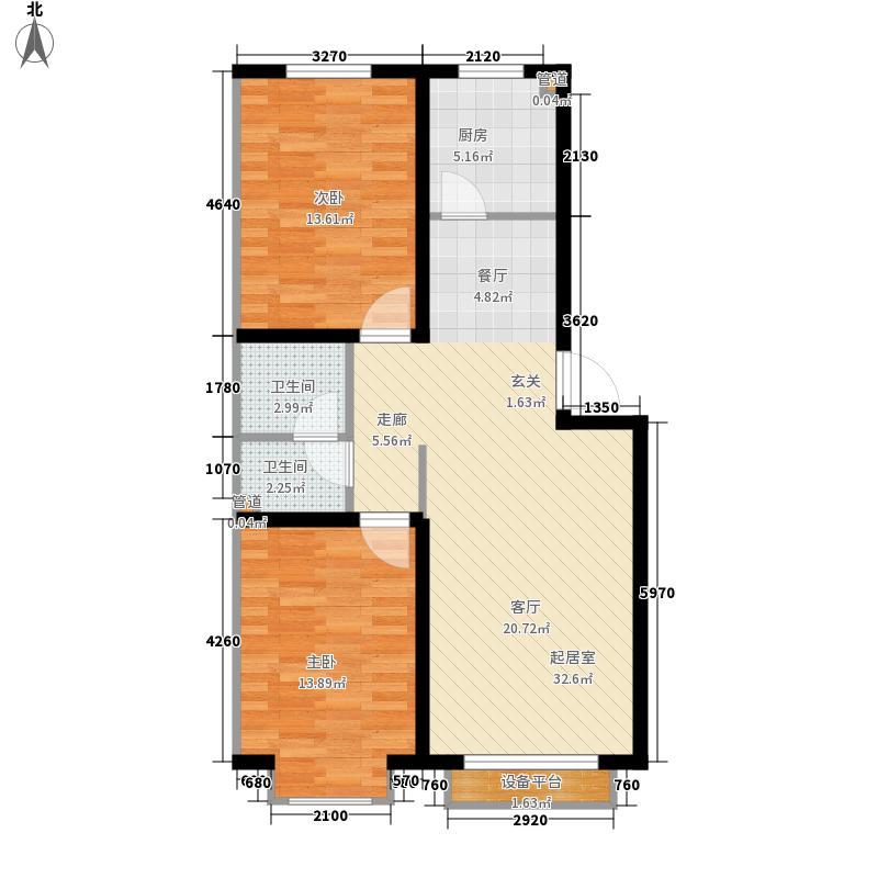 美地庄园・苹果园90.00㎡美地・苹果园三期户型图户型32室2厅1卫户型2室2厅1卫