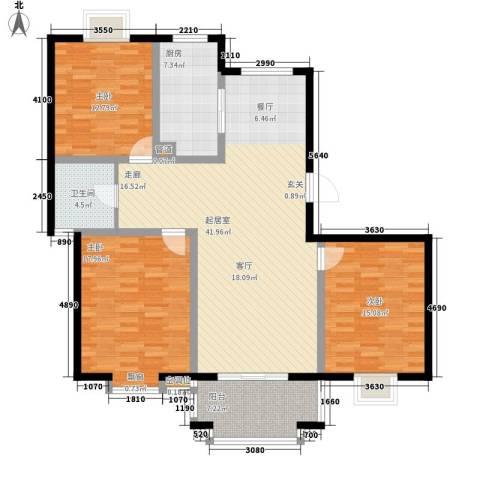 汇丰沁苑3室0厅1卫1厨120.00㎡户型图