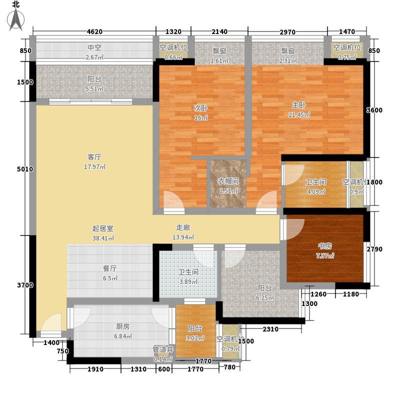 东方剑桥114.44㎡二期6号楼标准层B户型