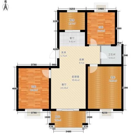 汇丰沁苑3室0厅1卫1厨115.00㎡户型图