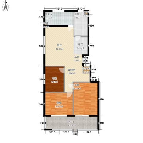盛唐世家3室1厅1卫1厨118.00㎡户型图