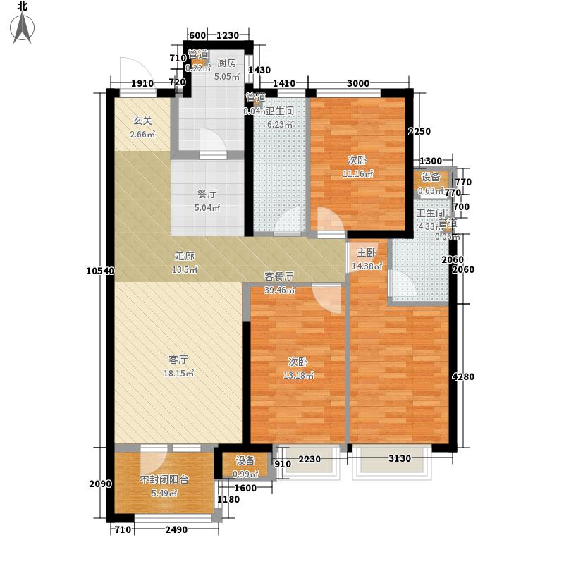 金地滨河国际・左岸115.00㎡金地滨河国际・左岸户型图B3户型3室2厅2卫1厨户型3室2厅2卫1厨