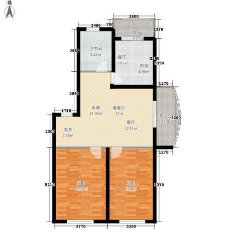 东城花园2室1厅1卫1厨94.29㎡户型图