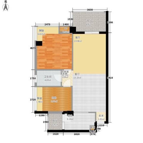 阳光澳园2室0厅1卫1厨106.00㎡户型图