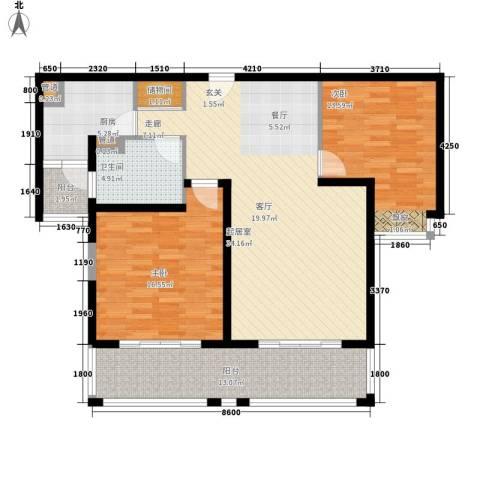 蒙特利名都城2室0厅1卫1厨104.00㎡户型图