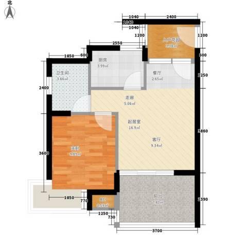 滨海18 ℃1室0厅1卫1厨57.00㎡户型图