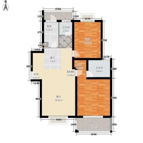 蒙特利名都城2室0厅2卫1厨114.00㎡户型图