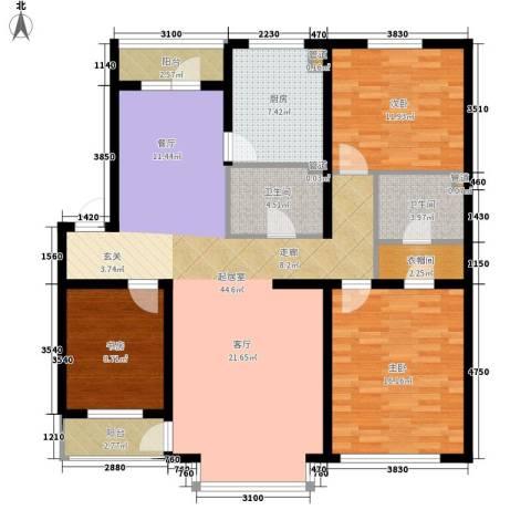 在水一方3室0厅2卫1厨129.00㎡户型图