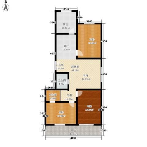 永丰公寓3室0厅2卫1厨148.00㎡户型图