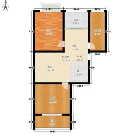 御墅林峰2室0厅1卫1厨101.00㎡户型图