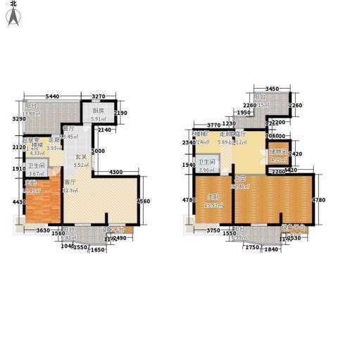 名江七星城2室0厅2卫1厨220.00㎡户型图
