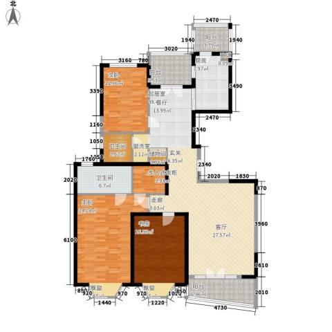 名江七星城3室0厅2卫1厨162.00㎡户型图