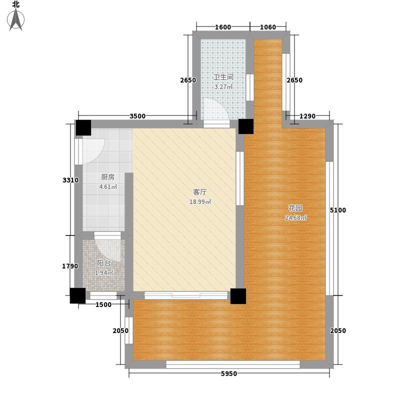千鹭湖度假酒店C8型户型1室1厅1卫1厨