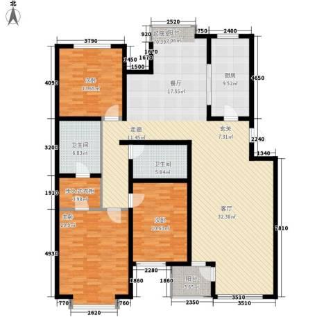 巨海城3室0厅2卫1厨165.00㎡户型图