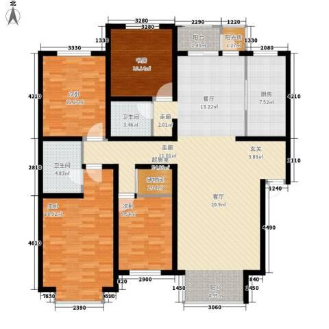 巨海城4室0厅2卫1厨143.00㎡户型图