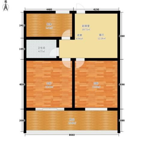 御墅林峰2室0厅1卫1厨96.00㎡户型图