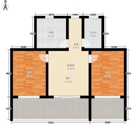 御墅林峰2室0厅1卫1厨93.00㎡户型图